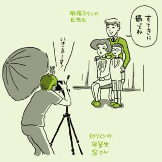 カメラマンの卒業生と映像クリエイターの先生